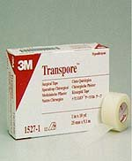 "3M Transpore Surgical Tape Standard Roll 3"" X 10Yard Roll Hypoallergenic - Box of 4 - Model 1527-3"