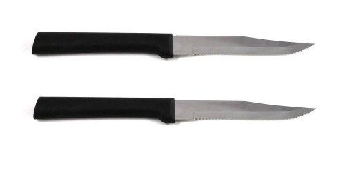 Rada Cutlery Serrated Steak Knife, W205/2, Black Handle, Pack Of 2