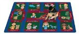 "Joy Carpets Kid Essentials Music & Special Needs Signs On The Farm Rug, Multicolored, 7'8"" x 10'9"""