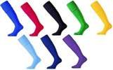 Knee High Football Coloured Sports Socks-Black-Boys (12-2)