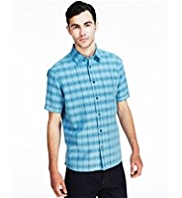 Modal Blend Graded Checked Shirt