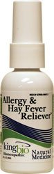 King Bio - Allergy & Hay Fever Reliever, 2 fl oz liquid