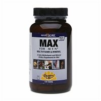 Country Life Max For Men Maxi-Sorb Multi-Vitamins- Vegetarian, 120-Tablets, 1 Pack