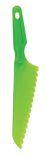 Hic Brands That Cook Green Plastic Serrated Lettuce Knife, 12-Inch