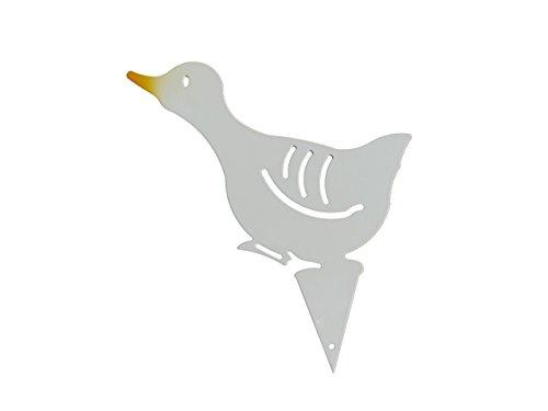 """Gartenstecker Beetstecker Gans """"Emmely"""", diese Martinsgans, Ente, dieses Küken, dieser Vogel ist ein echtes Schnäppchen als Präsent für Ihre Frau und auch zu Weihnachten eine besondere Geschenkidee. Ein wunderschönes Geschenk aus Metall auch zum Geburtstag. Witterungsbeständig statt Rostoptik, für Ihren Garten, als Deko vor Ihrer Haustür als Blickfang am Teich oder vor dem Brunnen."""