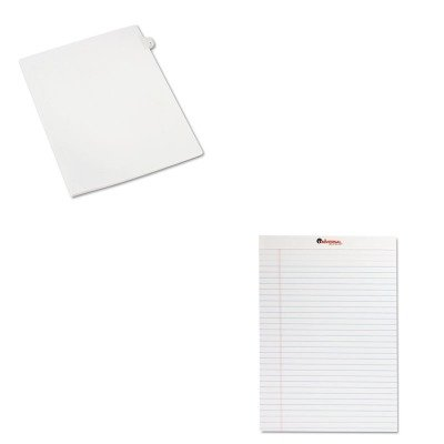 KITAVE82202UNV20630 - Value Kit - Avery Allstate-Style Legal Side Tab Divider (AVE82202) and Universal Perforated Edge Writing Pad (UNV20630) kitswi3747308unv10200 value kit swingline selfseal clear laminating sheets swi3747308 and universal small binder clips unv10200