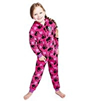 Minnie Mouse Hooded Fleece Onesie
