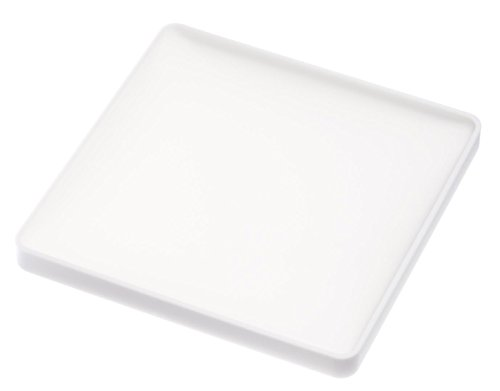 Set of 2 White Silicone Coasters - Square Shape