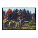 Avanti Black Bear Lodge Bath Rug Multicolored