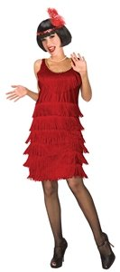 Flapper (Red) Adult Costume Size 10-12 Medium