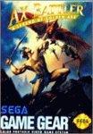 AX Battler a legend of golden axe - Game Gear - US [Sega Game Gear]