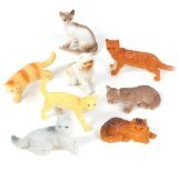 12 Assorted Cats (2.5-inch PVC)