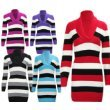 N38 NEW WOMENS LADIES KNITTED STRIPED PLUS SIZE,MATERNITY PREGNANCY COMFORT & SAFETY FOR BABY JUMPER DRESS