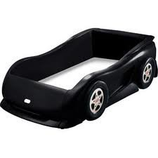 Little Tikes Sports Car Twin Bed, Black by Little Tikes