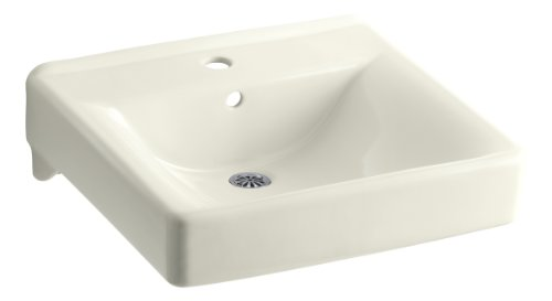 Kohler K-2084-96 Soho Wall-Mount Lavatory with Single-Hole Faucet Drilling, Biscuit