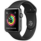 Apple Watch Series 1 42mm Smartwatch (Space Grey Aluminum Case, Black Sport Band) (Color: Space Grey(42mm))