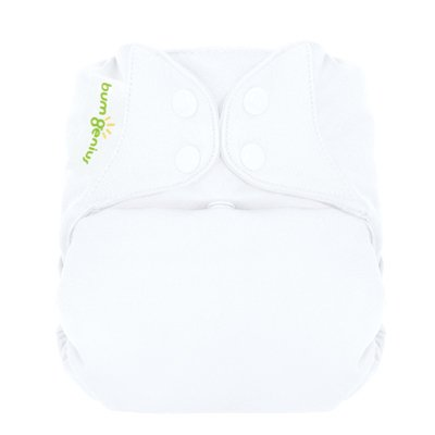 Freetime (Snap) Aio Diaper With Stay Dry Liner - White front-594840