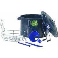 Ball Enamel Waterbath Canner, Including Chrome-Plated Rack and 4-Piece Utensil Set