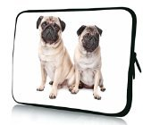 Rikki Knight 15 inch Rikki KnightTM Two Pug Dogs Laptop Sleeve