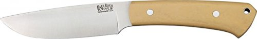 Bark River Highlander Series Fixed Blade Knife,4In,A-2 Tool Steel Blade,Antique Ivory 131Mai