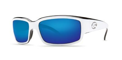 6d592c44058 Costa Del Mar - Caballito - White Black Frame-Blue Mirror Costa 580 Glass  Lenses