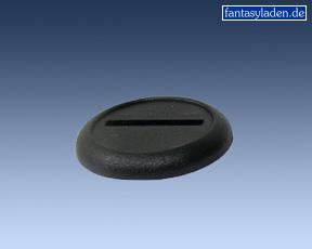 30mm Black Round Lipped Bases (10)