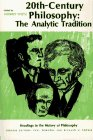 img - for Twentieth-Century Philosophy: The Analytic Tradition (Readings in the History of Philosophy) book / textbook / text book