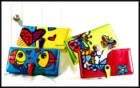 Romero Britto Large Wallet Color Flower Fish Heart NWT!