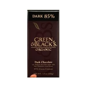 Green & Black Dark Chocolate Bar 85% 3.5 oz bar