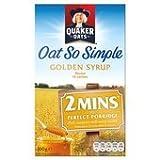 Quaker Oats Oat So Simple Golden Syrup Porridge 10 X 36G