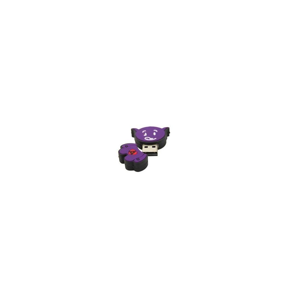 8GB Ox Shaped Cartoon USB Flash Drive Purple