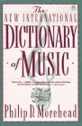 Dictionary of Music, The New International (Meridian)
