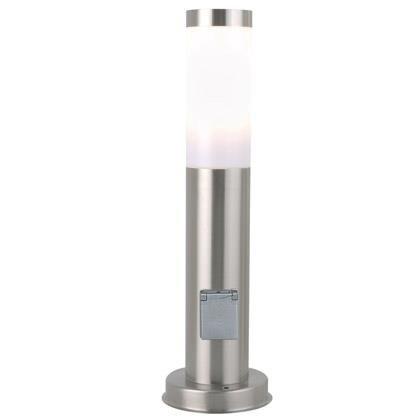 nordlux edelstahl leuchte stand 45 cm h he mit steckdose. Black Bedroom Furniture Sets. Home Design Ideas