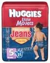 Huggies Little Movers Diaper Jeans Size 5 (Over 27 lbs), 21.0 CT (3 Pack)