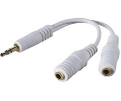 Belkin F8V234-Wht Ipod(R) Speaker/Headphone Splitter (Belkin F8V234-Wht)