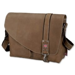 Pride and Soul Gentry Shoulder Bag Leather and Carabiner Lock 1 Front Pocket Brown Ref 47129