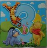 Disney Winnie The Pooh Age 3 Birthday Card