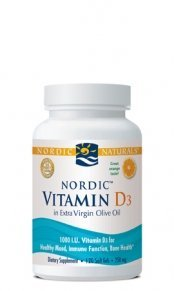 Nordic Naturals - Vitamin D-3, 1000 IU, 120 softgels (Pack of 3)