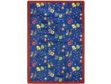 "Joy Carpets Playful Patterns Children's Scribbles Area Rug, Blue, 3'10"" x 5'4"" - 1"