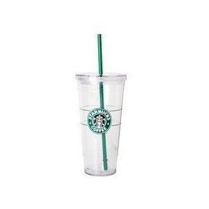Starbucks Venti 20 oz Clear Insulated Tumbler