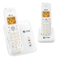 AT&T DECT 6.0 White/Grey Digital Dual Handset Cordless Telephone (EL51209)