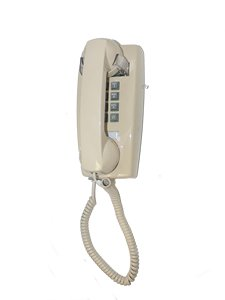 Cortelco Single Line Wall Telephone (ITT-2554-V-IV)