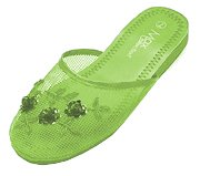 Cheap Mesh Chinese Slippers for weddings And Casual Wear (Lime Green) (B000UZC28S)