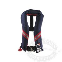 Image of Sospenders Automatic Inflatable Life Jacket w/Harness 1230NAV00000 (B007NTFK0Q)