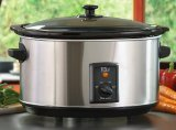 Maxi-Matic MST-800V Elite Gourmet Large 8-1/2-Quart Slow Cooker, Stainless image