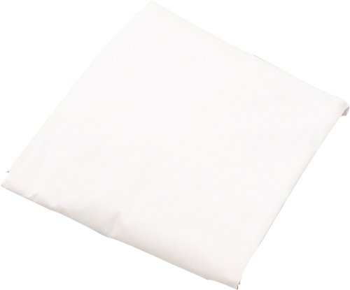 LA Baby Poly Cotton fitted sheet for full size crib mattress, White