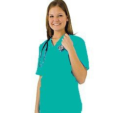 Low Price Natural Uniforms Womens Scrub Set (Asst Colors XS-3X) Medical Scrub Top and Pant