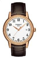 Tissot Carson White Dial Brown Leather Mens Watch T0854103601200