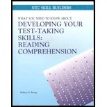 Reading Comprehension : What You Need to Know About Developing Your Test-Taking Skills