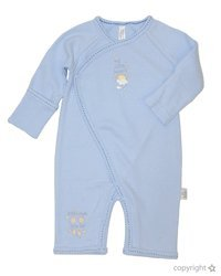 Max and Tilly Small Baby Boy Pale Blue Coverall size Premmie